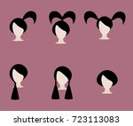 women's and children's haircuts ... | Shutterstock .eps vector #723113083