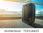 suitcase or luggage over...   Shutterstock . vector #723116623