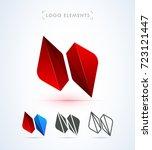 abstract vector logo template.... | Shutterstock .eps vector #723121447