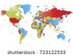 color world map vector | Shutterstock .eps vector #723122533