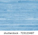 blue background painted wood... | Shutterstock . vector #723123487