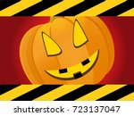 halloween red background with... | Shutterstock .eps vector #723137047