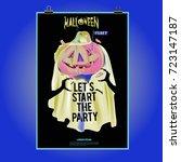 happy halloween poster. vector... | Shutterstock .eps vector #723147187
