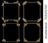 decorative line art frames for... | Shutterstock .eps vector #723152767