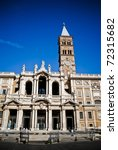 Basilica di Santa Maria Maggiore at summer day in Rome, Italy - stock photo