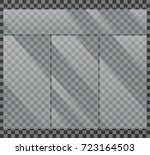 crystal clear glass window... | Shutterstock .eps vector #723164503