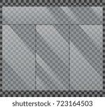 crystal clear glass window... | Shutterstock .eps vector #723164503