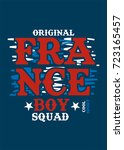 france boy squad t shirt print... | Shutterstock .eps vector #723165457