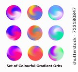 liquid color covers set. fluid... | Shutterstock .eps vector #723180847