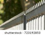 metal fence | Shutterstock . vector #723192853