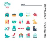pets  flat icons set  vector... | Shutterstock .eps vector #723196933