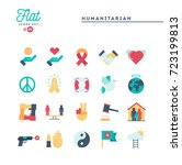 humanitarian  peace  justice ... | Shutterstock .eps vector #723199813
