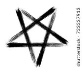 reversed pentagram icon  brush... | Shutterstock .eps vector #723237913