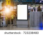blank billboard posters in the... | Shutterstock . vector #723238483