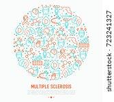multiple sclerosis concept in... | Shutterstock .eps vector #723241327