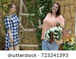 charming girls girlfriends... | Shutterstock . vector #723241393