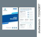 blue brochure annual report...   Shutterstock .eps vector #723242857