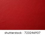 red leather texture background | Shutterstock . vector #723246937