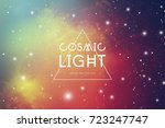 Hipster Space Background With...
