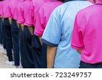 discipline is discipline ... | Shutterstock . vector #723249757