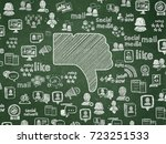 social network concept  chalk... | Shutterstock . vector #723251533
