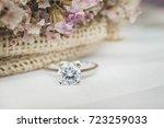 close up of an elegant diamond... | Shutterstock . vector #723259033