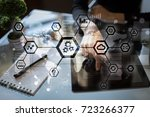 iot  automation  industry 4.0.... | Shutterstock . vector #723266377