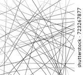 random chaotic strip lines... | Shutterstock .eps vector #723267877