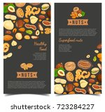 vertical posters for vegan nut... | Shutterstock .eps vector #723284227