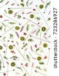 vertical  composition of fruits ...   Shutterstock . vector #723286927