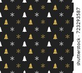 new year seamless pattern with... | Shutterstock .eps vector #723293587