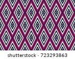 geometric ethnic pattern... | Shutterstock .eps vector #723293863