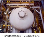 fire coating protection of oil... | Shutterstock . vector #723305173