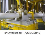 the centrifugal pump install on ... | Shutterstock . vector #723306847