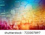 laboratory glass. macro image.... | Shutterstock . vector #723307897