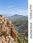 """Small photo of Geological formation of the """"Organos de Benitandus"""" Valencian Community. Europe"""