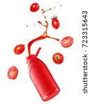 tomato ketchup up from a...