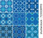 seamless watercolor pattern ... | Shutterstock . vector #723328993