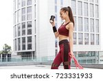 fitness sporty woman during... | Shutterstock . vector #723331933