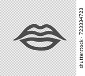 lips vector icon eps 10. simple ... | Shutterstock .eps vector #723334723