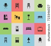 set of 16 editable furnishings...