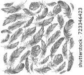 feather pattern   Shutterstock . vector #723346423
