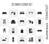 set of 20 editable furnishings...