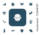 set of 13 editable zoo icons....