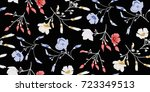 seamless floral pattern in... | Shutterstock .eps vector #723349513