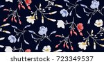 seamless floral pattern in... | Shutterstock .eps vector #723349537