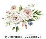 oil painting flowers. floral... | Shutterstock . vector #723355627
