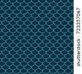 fish scale seamless pattern.... | Shutterstock .eps vector #723357067