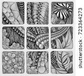 zentangle abstract illustration.... | Shutterstock . vector #723364273