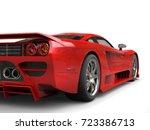 fiery red modern super race car ... | Shutterstock . vector #723386713